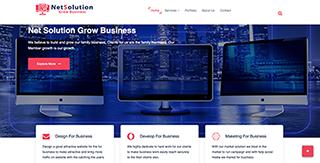netsolution a broandband and network solution website design